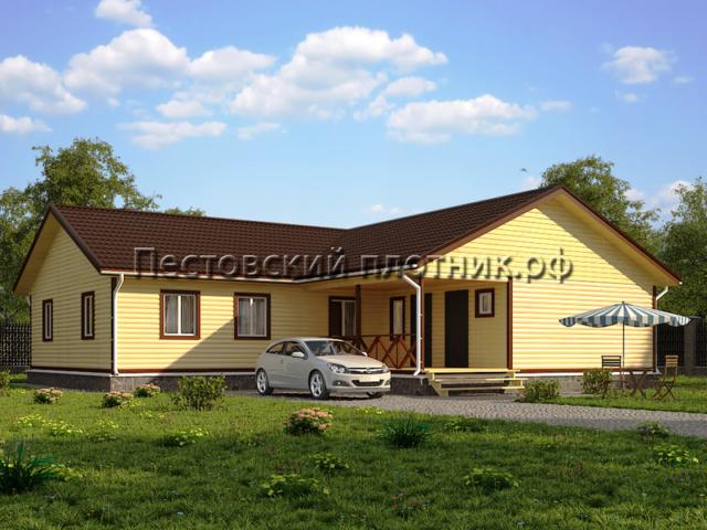 Дом из бруса Д-33